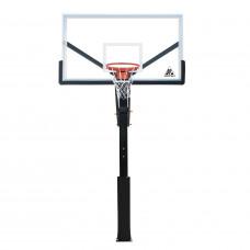 Баскетбольная стационарная стойка ING72GU 180*105см