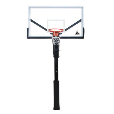 Баскетбольная стационарная стойка ING72GU 180*105см фотография товара