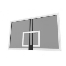 Щит баскетбольный игровой 1,8х1,05 м закалённое стекло 10 мм на металлической раме