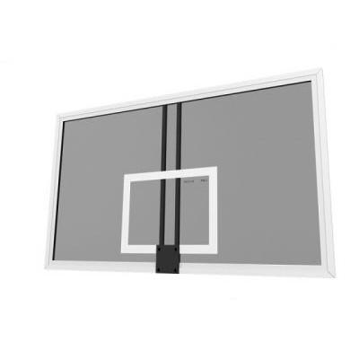 Щит баскетбольный тренировочный 1,37х0,91м закаленное стекло 8 мм на металлической раме фотография товара