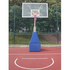 Стойка баскетбольная мобильная складная массовая, вынос 2,25 м