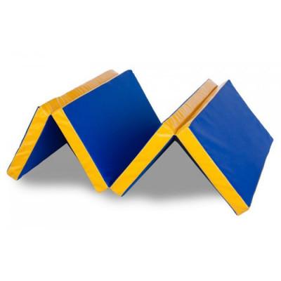 Гимнастический мат складной (4-х секционный) 1х2,0х0,1м фотография товара