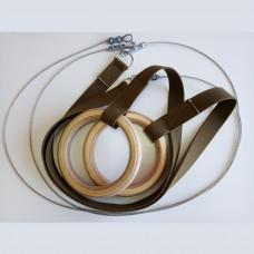 Гимнастические кольца с тросом фотография товара