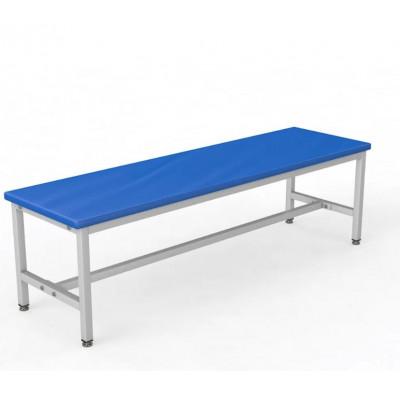 Скамейка без спинки для раздевалки 1,0 метр, мягкая фотография товара