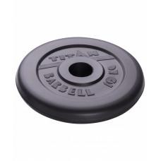 Диск обрезиненный TITAN 10 кг, d=51 мм