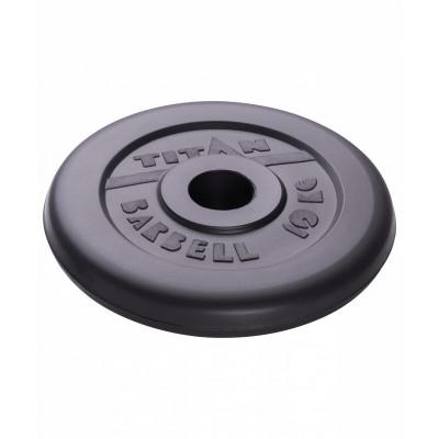 Диск обрезиненный TITAN 10 кг, d=51 мм фотография товара