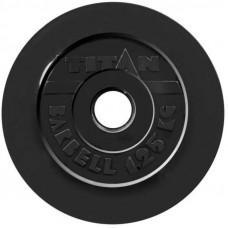Диск обрезиненный TITAN 1,25 кг, d=51 мм