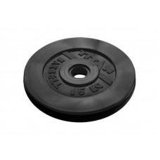 Диск обрезиненный TITAN 15 кг, d=51 мм