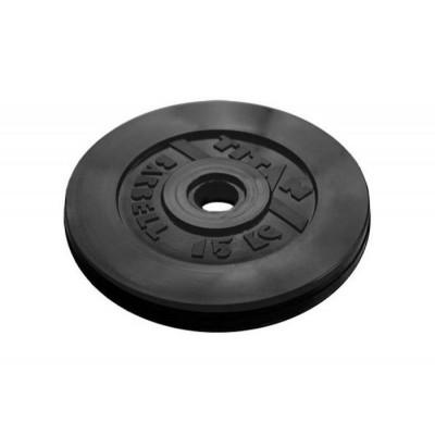 Диск обрезиненный TITAN 15 кг, d=51 мм фотография товара