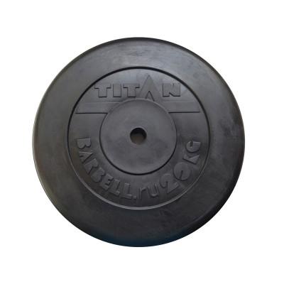 Диск обрезиненный TITAN 20 кг, d=51 мм фотография товара
