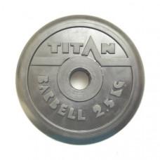 Диск обрезиненный TITAN 2,5 кг, d=51 мм