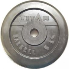 Диск обрезиненный TITAN 5 кг, d=51 мм