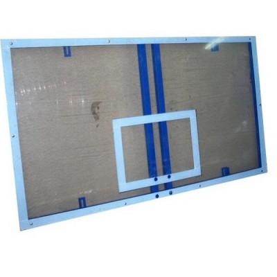 Щит баскетбольный игровой из фанеры 1,8х1,05м на металлической раме фотография товара