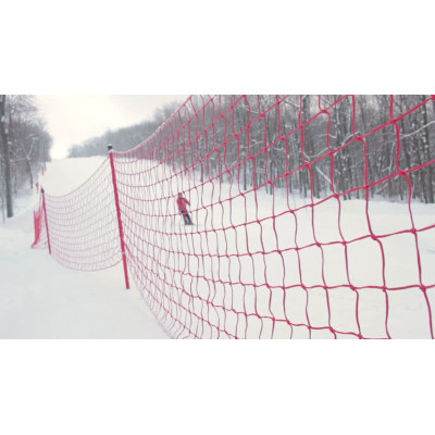 Сетка разграничительная для горнолыжной трассы 1,2х25м фотография товара