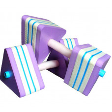 Гантели для аквааэробики треугольные (пара) сопротивление 4кг