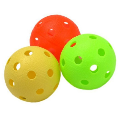 Мяч для игры в флорбол цветные фотография товара