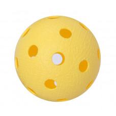 Мяч для игры в флорбол желтый