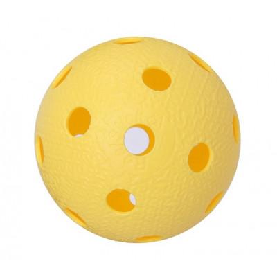 Мяч для игры в флорбол желтый фотография товара