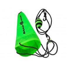 Пояс с парашютом тренажер для плавания DRAG CHUTE MAD
