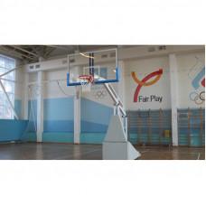 Стойка баскетбольная мобильная складная игровая, вынос 2,25 м