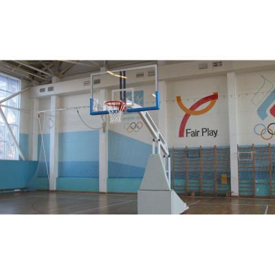 Стойка баскетбольная мобильная складная игровая, вынос 1,6 м фотография товара