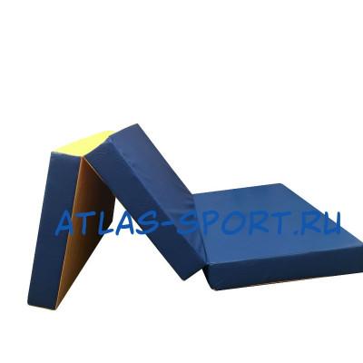 Гимнастический мат складной 1х1,5х0,1м фотография товара
