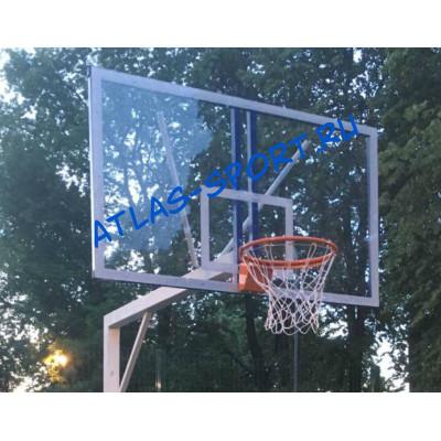 Щит баскетбольный из оргстекла (15мм) 1,8х1,05м