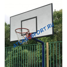 Щит баскетбольный тренировочный из фанеры 1,2х0,8м на металлической раме