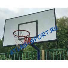 Щит баскетбольный тренировочный из фанеры 1,2х0,9м на металлической раме