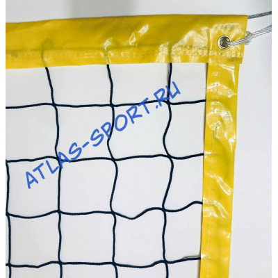 Сетка для пляжного волейбола 3мм с п/э тросом фотография товара
