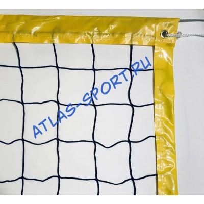 Сетка для пляжного волейбола 3мм с тросом фотография товара