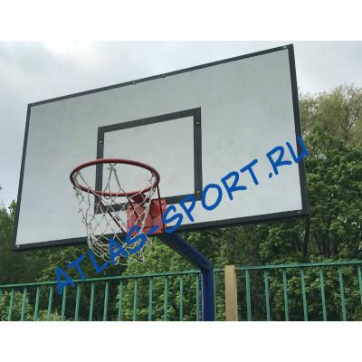 Щит баскетбольный тренировочный из фанеры 1,2х0,9м на металлической раме фотография товара