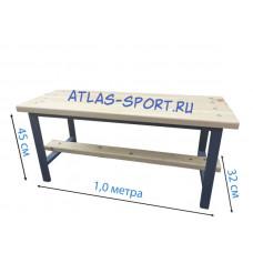 Скамейка для раздевалок кушетка 1,0 метр