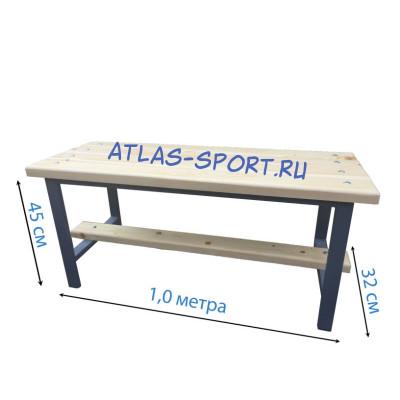 Скамейка для раздевалок кушетка 1,0 метр фотография товара