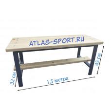 Скамейка для раздевалок кушетка 1,5 метра