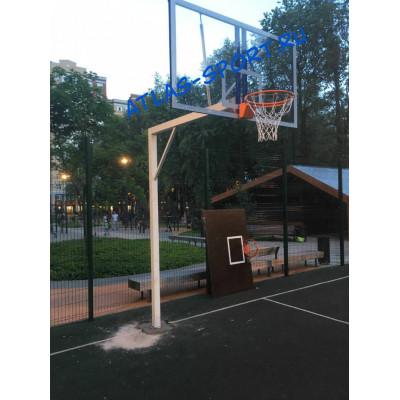 Стойка уличная баскетбольная вынос 200см фотография товара