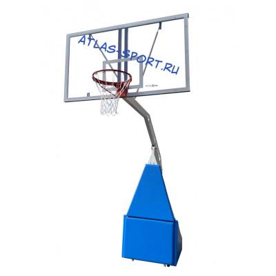 Стойка баскетбольная мобильная складная массовая, вынос 2,25 м фотография товара