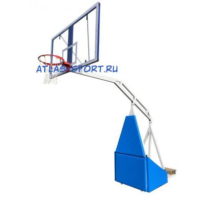 Стойка баскетбольная мобильная складная массовая, вынос 3,25 м фотография товара