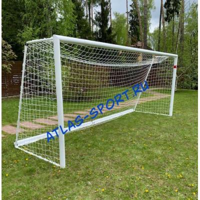 Ворота футбольные переносные 5мх2м из круглой трубы фотография товара