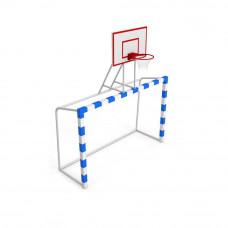 Ворота для мини-футбола с баскетбольным щитом фотография товара
