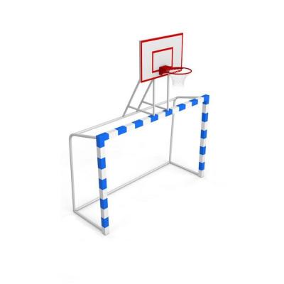 Ворота для мини-футбола с баскетбольным щитом из фанеры фотография товара