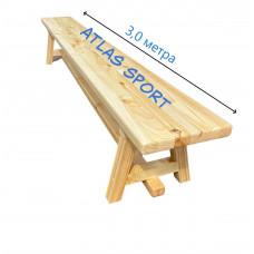 Скамейка гимнастическая на деревянных ножках 3,0 м фотография товара