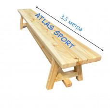 Скамейка гимнастическая на деревянных ножках 3,5 м фотография товара
