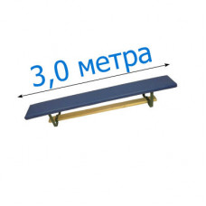 Скамья гимнастическая мягкая на металлических ножках 300см