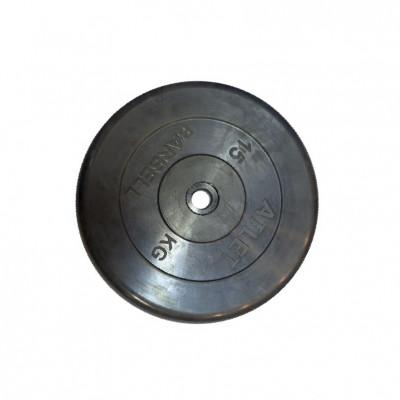 Диск обрезиненный, 26 мм, 15кг Atlet фотография товара