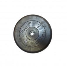 Диск обрезиненный, 26 мм, 20кг Atlet