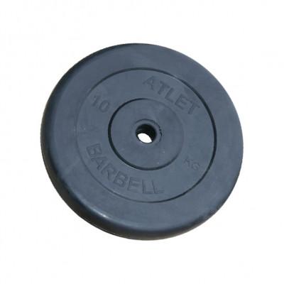 Диск обрезиненный, 31 мм, 10кг Atlet фотография товара