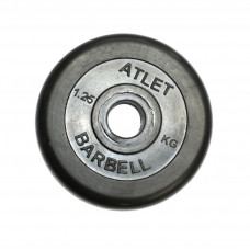 Диск обрезиненный, 31 мм, 1,25кг Atlet
