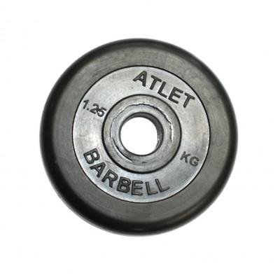 Диск обрезиненный, 31 мм, 1,25кг Atlet фотография товара