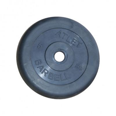Диск обрезиненный, 31 мм, 5кг Atlet фотография товара